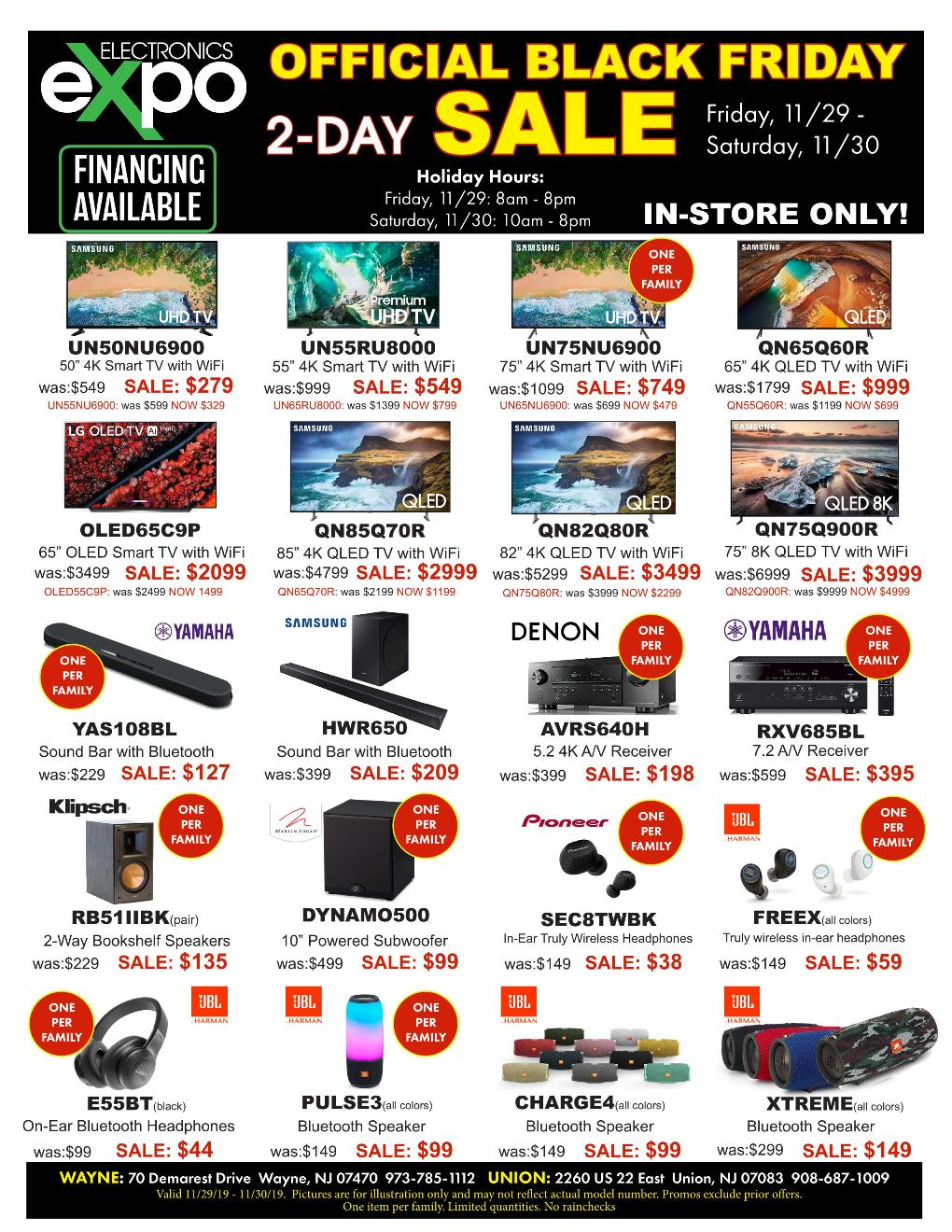 Electronics Expo Black Friday page 1